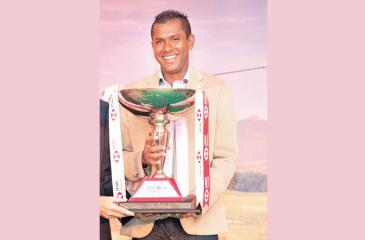 Rajeev Rajapakse with the HSBC Premier Challenge Trophy