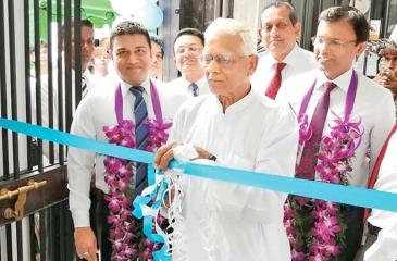 The opening of the branch.