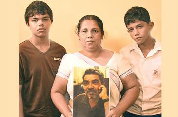 Sandhya Ekneligoda and her sons