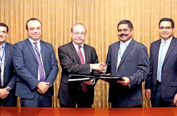 Ambassador of France to Sri Lanka, Eric Lavertu and MD, CBC, S. Renganathan exchange the agreement.