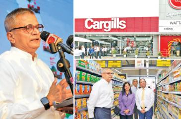 At the opening of the Cargills Food City outlet in Wattala last week.