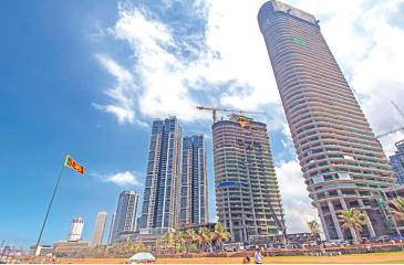 MODERN LOOK: Galle Face Green amidst under-construction skyscrapers