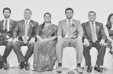 The new executive committee of Ceylinco Life's Toastmasters Club (from left) Suneth Samarakoon - Treasurer, Dileepa Delwala - Vice President, Deshapriya Vipulatheja - Vice President, Shyamala Devi Arulanandam - President, Chulaka Kumarasinghe - Immediate Past President, Kamal Rupasiri - Vice President, Education, Keshani Samarakoon - Secretary and Nalin Dhanushka - Sergeant-at-Arms.