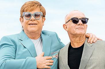 British songwriter Bernie Taupin (right) with Sir Elton John. Taupin was a longtime collaborator with the legendary pop star and is responsible for the lyrics of many of Sir Elton's classic hits