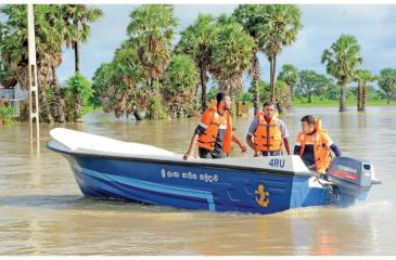 Navy operations in Flooded areas