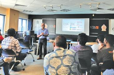 Director, Layers-7 Seguro Consultoria, Sujit Christy, conducts a workshop on Security essentials for startups.