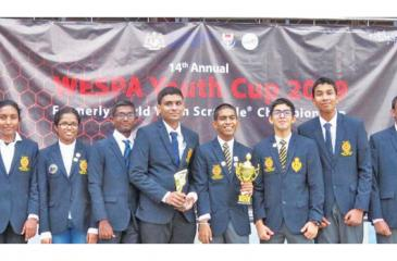 The Sri Lanka youth team comprising Radinka Dissanayake (Bishop's College), Hasali Ratnayake (Girls HS, Kandy), Kalpana Seneviratne (Sacred Heart Convent, Galle), Raguparan Ilanpoornan, S. Thomas' College), Janul de Silva (captain) and Qays Sangani (Royal College), Vignesh Pirapaharan (Lyceum International, Panadura), Sarindu Willadarage and Nimuthu Witharana (Richmond College), Adheesha Dissanayake (Gateway College)