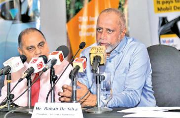 President of the Sri Lanka Badminton Association Rohan de Silva addressing the media regarding the Senior and Junior National Championship 2019 which is to commence tomorrow. Picture by Rukmal Gamage