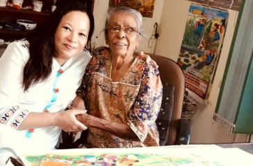 Robina P. Marks with Sybil Wettasinghe