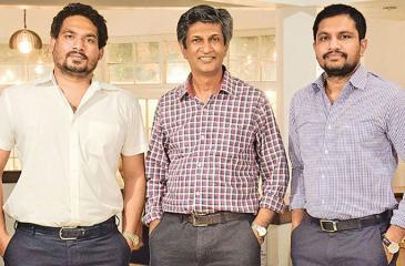 From left - Rajiv Gunawardena (Director), Rajitha Basnayake (Chairman) and Lahiru Wickramasinghe (CEO/Director)