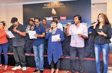 The artistes performing Arise Sri Lanka, which has been specially composed for the event