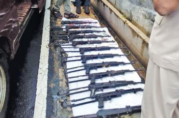 Illegal firearms storage in Pitipana, Homagama