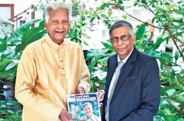 Merril J. Fernando with Prof.  Lakshman Watawala.