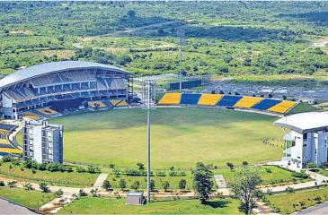 The Mahinda Rajapaksa International Cricket  Stadium in Hambantota