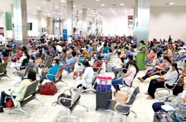 Lankan expatriates in Kuwait awaiting return