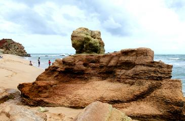 Weather beaten limestone boulders, a striking feature at the Ussangoda beach