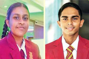2020 Observer-Mobitel Most Popular Schoolgirl Cricketer of the Year, Nimesh Wijesundera of Marapola MV, Minuwangoda-2020 Observer-Mobitel Most Popular Schoolboy Cricketer of the Year, Anuda Jayaweera of  Ananda College, Colombo