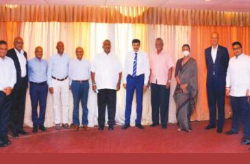 Minister Prasanna Ranatunga with members of the Tourism Advisory Committee and Tourism authority officials