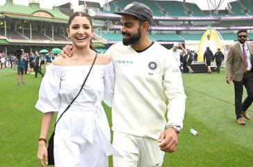 Virat Kohli with film star wife Anushka Sharma