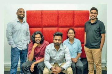 The core LoweDigital team (from left):  Raveen Liyanage, Nevinke  Navaratne, Kevin Kulatilake, Narthanie Serasinghe and Iqbal Moosa