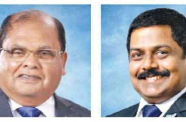Chairman Dharma Dheerasinghe- CEO S. Renganathan