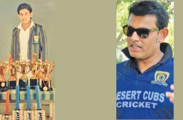 When he won seven awards at two Observer Schoolboy Cricketer of the Year contests-Presley Polonnowita, who is going great guns in Dubai