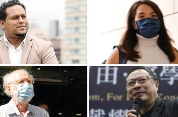 A social worker, an ex-journalist, an academic and an American lawyer (clockwise from top left) were among the arrested