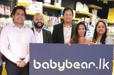 From left:  (Antyra Solutions) - AM Projects, Eshan Fernando, AM, Client Servicing, Usitha Dheerasinghe, CEO Niranka T. Perera. (Babybear) - MD Rae Devadason, (Global Payments) - Dilani de Silva, RM Nilanthi Kulatunga,  and Regional Manager  Thouseef Ahmed.