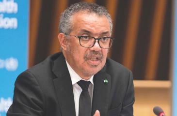 WHO Director General Dr. Tedros Adhanom Ghebreyesus