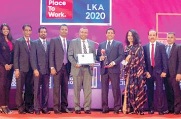 The Ceylon Biscuit Limited team at the awards ceremony.