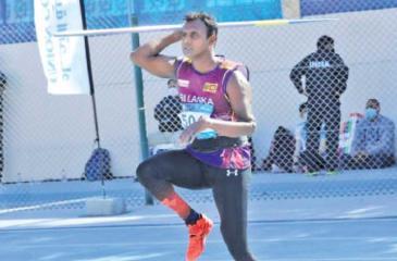 Gamini Ekanayake in action at the Dubai Grand Prix