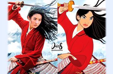 Mulan 2020 and Mulan 1998 by Disney movies