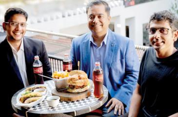 Collaboration - Coca-Cola Sri Lanka Pvt. Ltd's Mario Perera (Country Marketing Manager) and Pankaj Sinha (Managing Director) with Bhanuka Harischandra (Founder – Surge Global) of Avocado