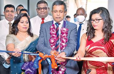 Chairman and Managing Director of Homelands and Homelands Skyline,  Nalin Herath, Directress  Mrs. Harshani Herath and General Manager Mrs. Lanka Jayasinghe open the branch.