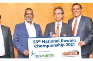 From left: Rohana Ellawala (Deputy Chief Marketing officer, SLT), Chandika Vitharana (Acting Chief Executive Officer, Mobitel), Dimuth Gunawardena (President ARASL), Sithira Wickremasekera (VP ARASL) and Pasan Ranaweera (Sect. ARASL) at the sponsorship presentation