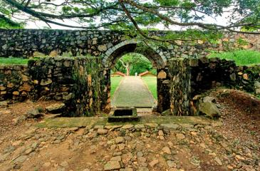 The interior of the Fort