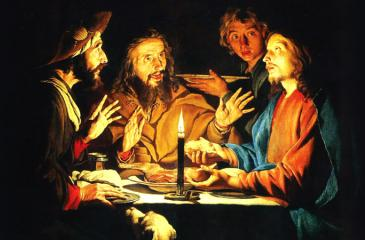 """The """"Breaking of the Bread"""" in Emmaus"""