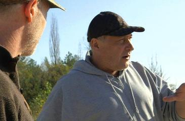 Dr. Gennady Laptev (right) has worked in the Chernobyl exclusion zone since three months after the accident and co-founded the Chernobyl Spirit Company