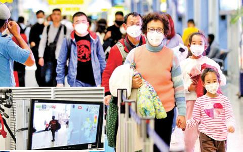 Sri Lanka secured its borders at airports and ports with thermal scanners to detect possible passengers with high temperatures as the death toll due to Chinese Coronavirus reached 40, and suspected cases were reported from elevan countries in four continents. Our staff photographer Sulochana Gamage captured this photo of a Chinese family arriving from Kunming passing through the scanners at the BIA's arrival terminal last night.