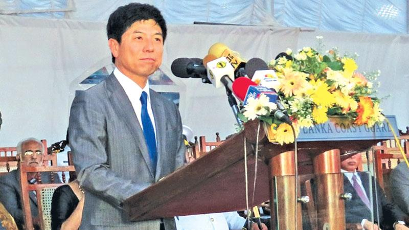 State Minister of Foreign Affairs of Japan Kazuyuki Nakane addressing the gathering