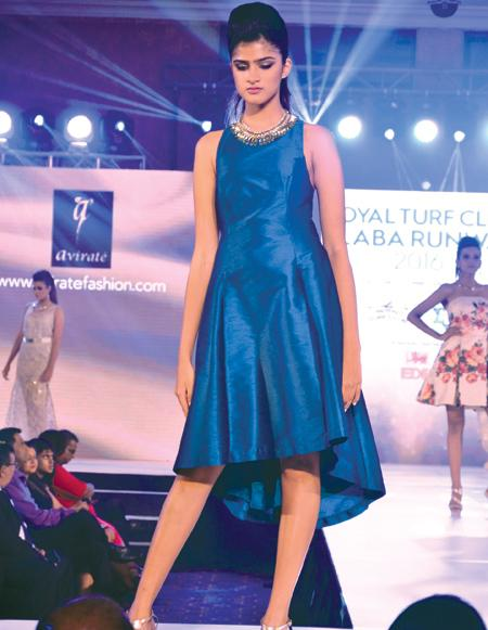 Apparel exports: A model walks down the ramp at a recent fashion show organized by the Sri Lanka Apparel Brands Association in Colombo. The apparel industry plans to bring in additional export revenue of one billion dollars by 2019, with the help of the trade agreements with India and China and the GSP Plus trade access to the European Union, hopefully by next year. Pictures by vipula Amarasinghe