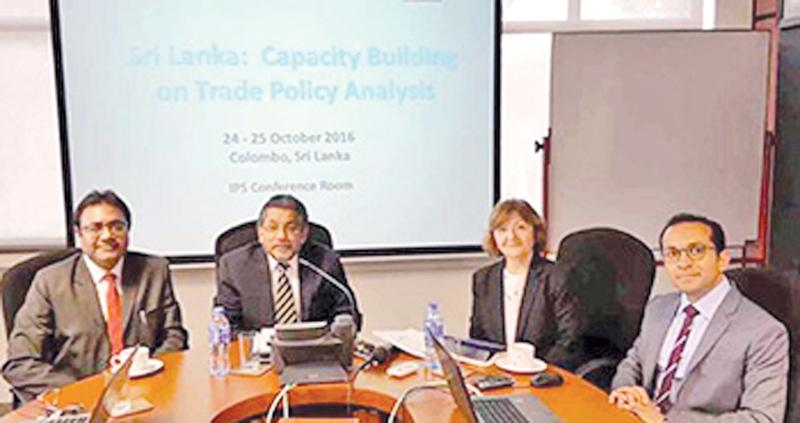 Dr. Mia Mikic with Dr. Saman Kelegama of IPS and ESCAP officials.
