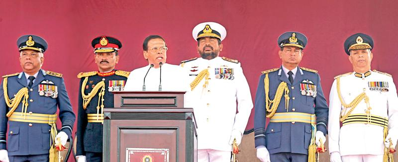 President Sirisena addressing the nation