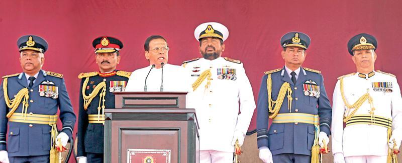 President Sirisena addressing the nation