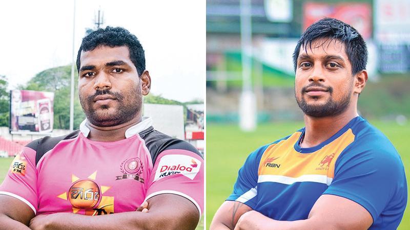 "Dushmantha Priyadarshana ""Bodhi"" (Havelock SC captain) and Roshan Weeraratne (Kandy SC captain)"