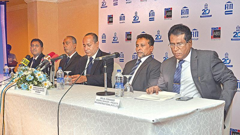 RN Group of Companies Chairman and Managing Director Ruwan Edirisinghe, Directors and officials at the press conference.PICTURE BY VIPULA AMERASINGHE