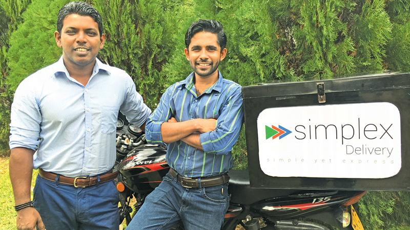 Simplex Delivery Co-Founders  Thilina Fonseka and Inas Jenabdeen