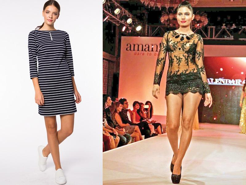 Models walk the ramp in amanté and Aviraté branded apparel. The Export Development Board plans to support apparel exporters to create more Sri Lankan brands such as these.