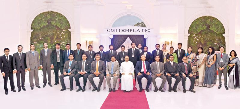 The Conference Committee with the Chief Guest President Mithripala Sirisena and other dignitaries.