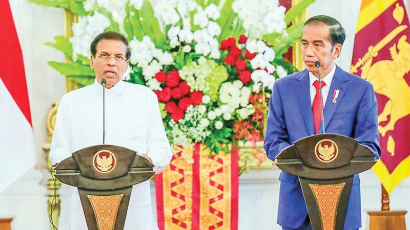 President Maithripala Sirisena holds bilateral discussions with the Indonesian President Joko Widodo in Indonesia